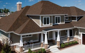 Picture of a roof on a home.