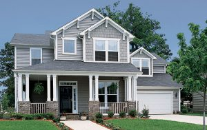 Picture of vinyl siding on a house.